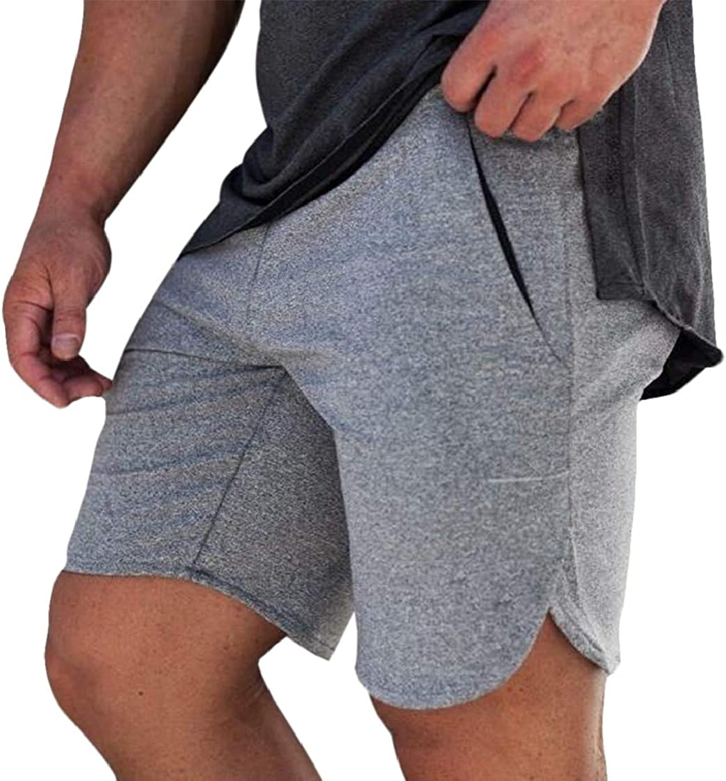 SELX Men Athletic Fitness Running Summer Casual Training Shorts