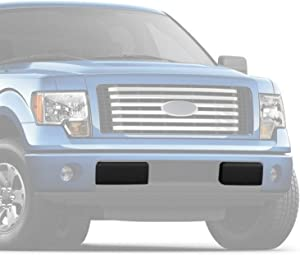 Yeeoy Front Bumper Guards Pads Inserts Caps Replacement for 2009-2014 Ford F150