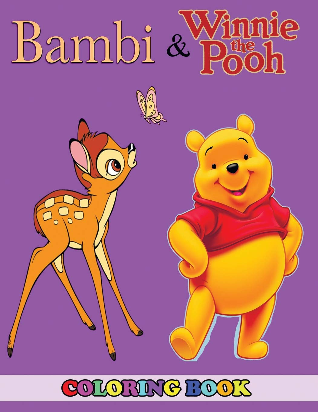Amazon.com: Bambi and Winnie the Pooh Coloring Book: 2 in 1 Coloring ...