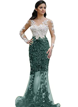 The Peachess Bean Mermaid Formal Gown Long Prom Dress US2