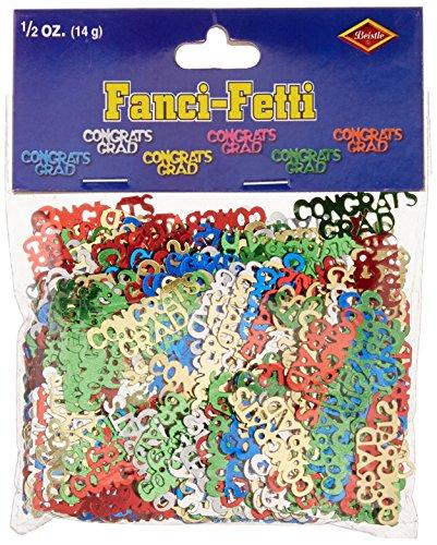 Congrats Grad Fanci-Fetti (multi-color) Party Accessory  (1 count) (.5 - Fanci Color Multi Fetti