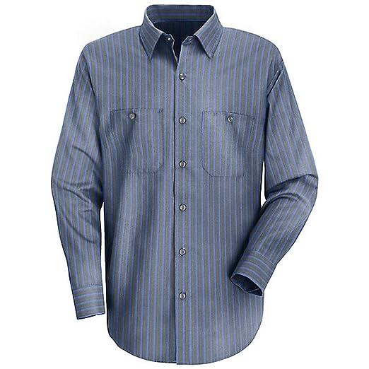 1072e973 Amazon.com: Red Kap Men's Long Sleeve Exxon Stripe Work Shirt: Books