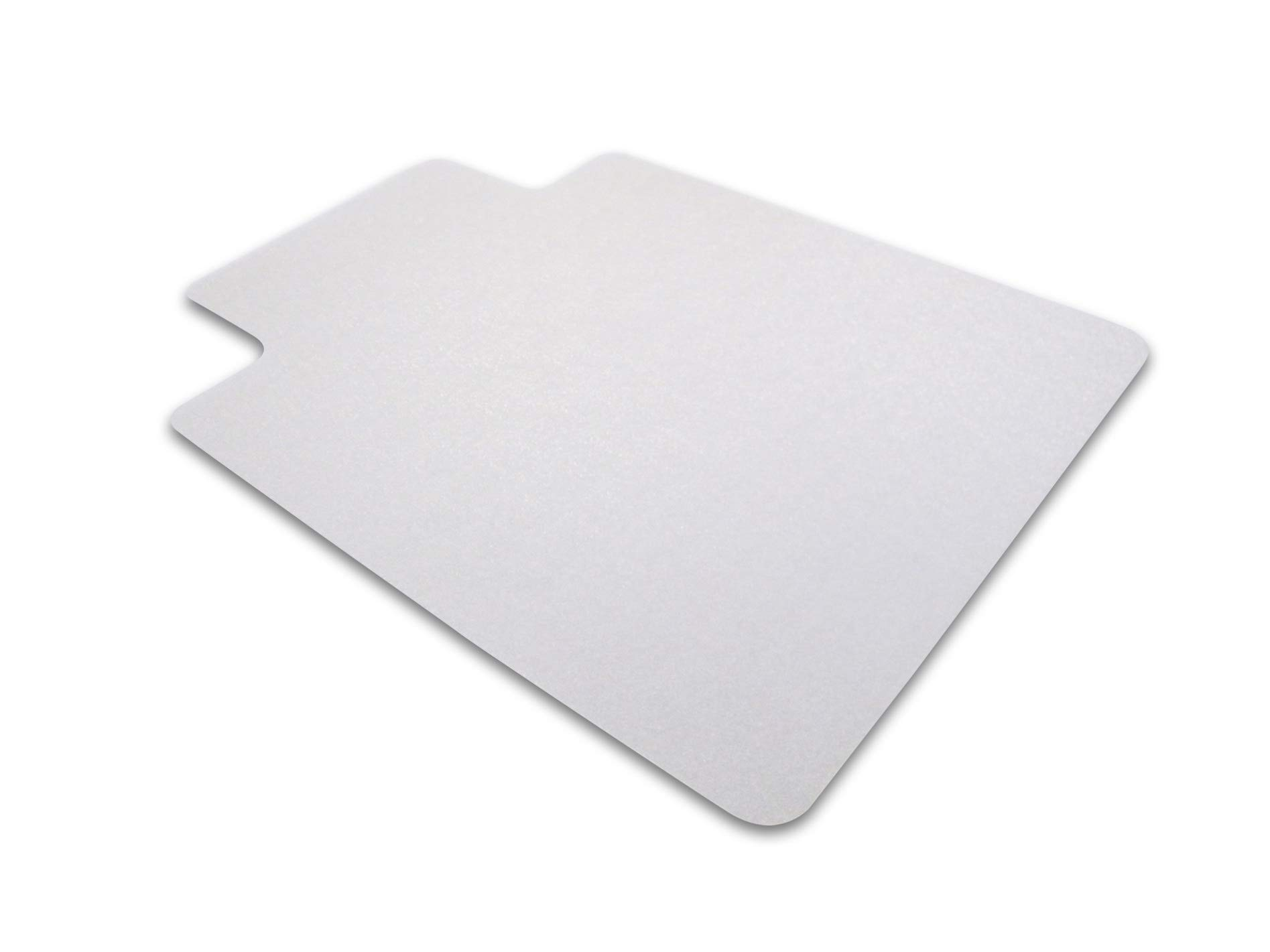 Cleartex UnoMat, Anti-Slip Chair Mat, for Polished Hard Floors/Carpet Tiles, Rectangular with Lip, 48'' x 60'' (FR1215020LRA)