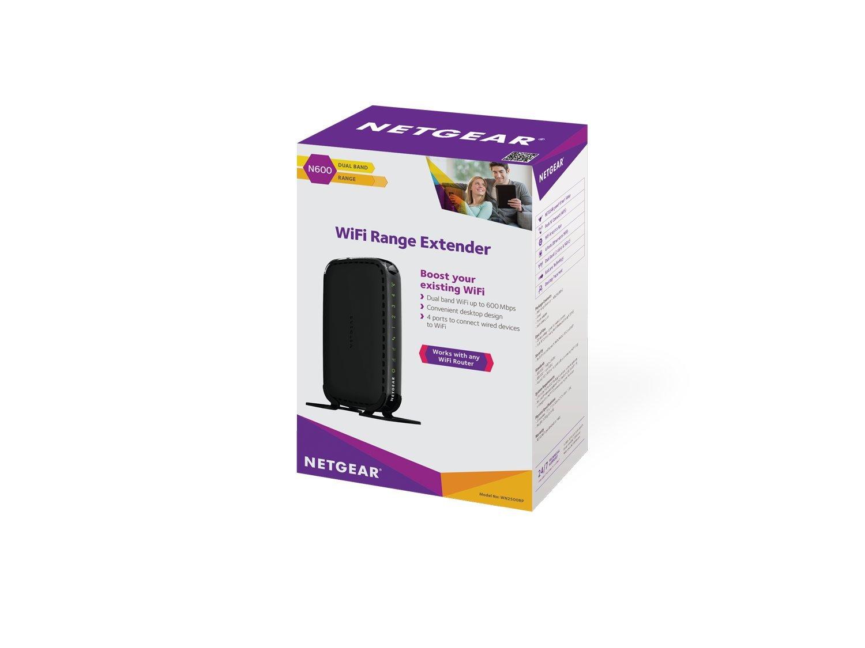 Netgear WN2500RP-100NAS N600 Desktop WiFi Range Extender (WN2500RP)