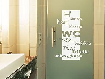 graz-design Fenstertattoo WC/Toilette/Stilles Örtchen ...
