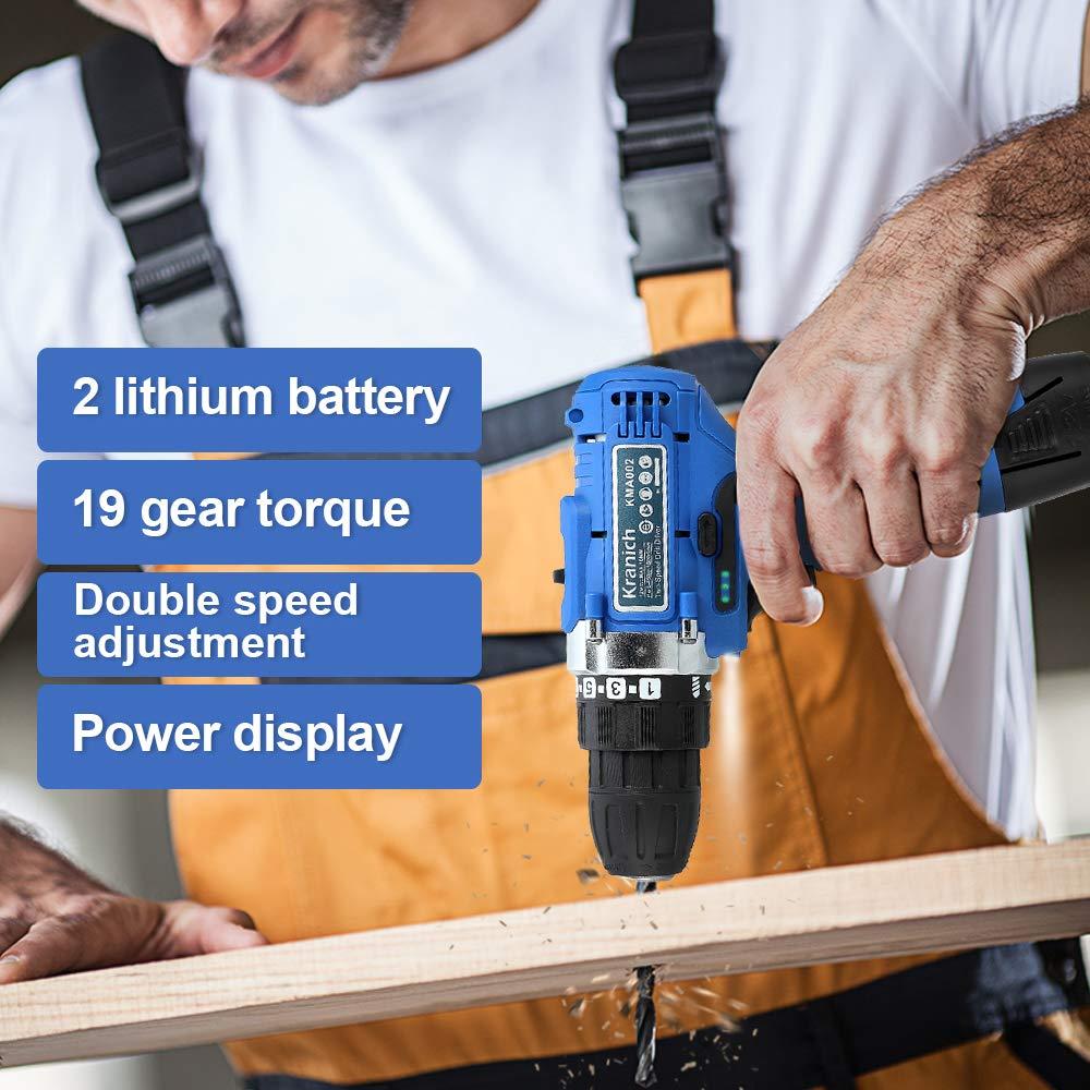 Taladro atornillador electrico inalambrico 12V conjunto con 2 ...