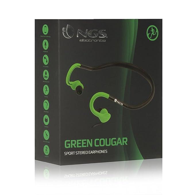 NGS COUGAR GREEN - Auriculares Deportivos Adaptable A La Oreja ...