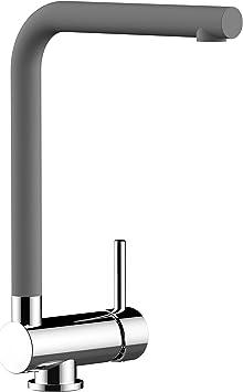 melangeur evier robinet cuisine rabattable 6cm bec gris fonce ciment pivotant robinet sous fenetre chrome