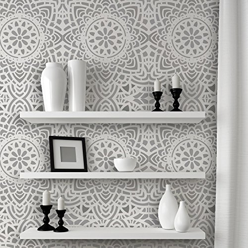 J BOUTIQUE STENCILS Wall Lace Decorative Stencil Madalyn Allover Reusable for DIY Wall Decor by J BOUTIQUE STENCILS