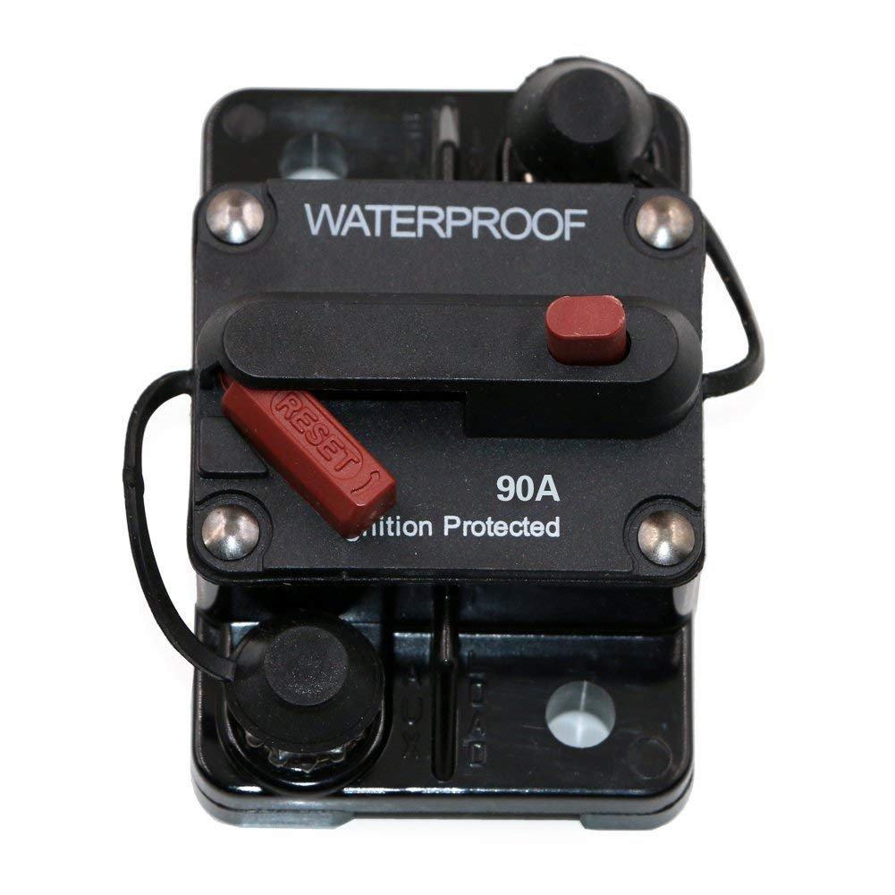 PerGrate Wasserfeste Sicherung 30A-250A Manuell Reset Typ III Leistungsschalter