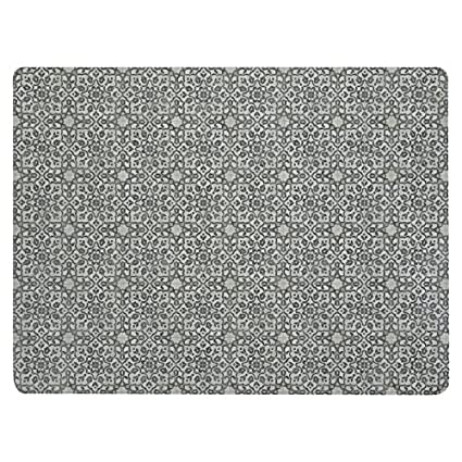 Com Vinyl Floor Mat Durable Soft And Easy To Clean Ideal For Kitchen Dining Room Or Play Freestyle Iron Filigree Pattern 6 Ft X 8