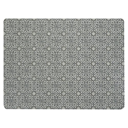 Vinyl Floor Mat, Durable, Soft and Easy to Clean, Ideal for Kitchen Floor, Dining Room or Play Mat. Freestyle, Iron Filigree Pattern (6 ft x 8 ft)