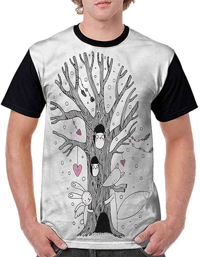 BlountDecor Cotton T-Shirt,Tree Playing Children Fashion Personality Customization