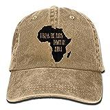 I Bless The Rains Down in Africa Unisex Baseball Cap Cotton Denim Adjustable Golf Caps for Men Or Women