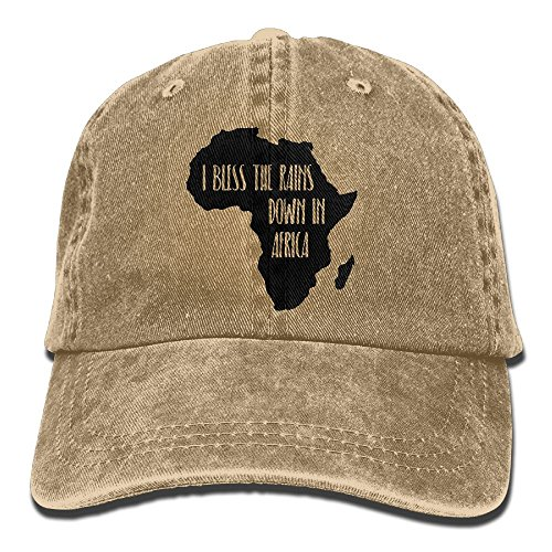 I Bless The Rains Down in Africa Unisex Baseball Cap Cotton Denim Adjustable Golf Caps for Men Or Women by TUYAHAT