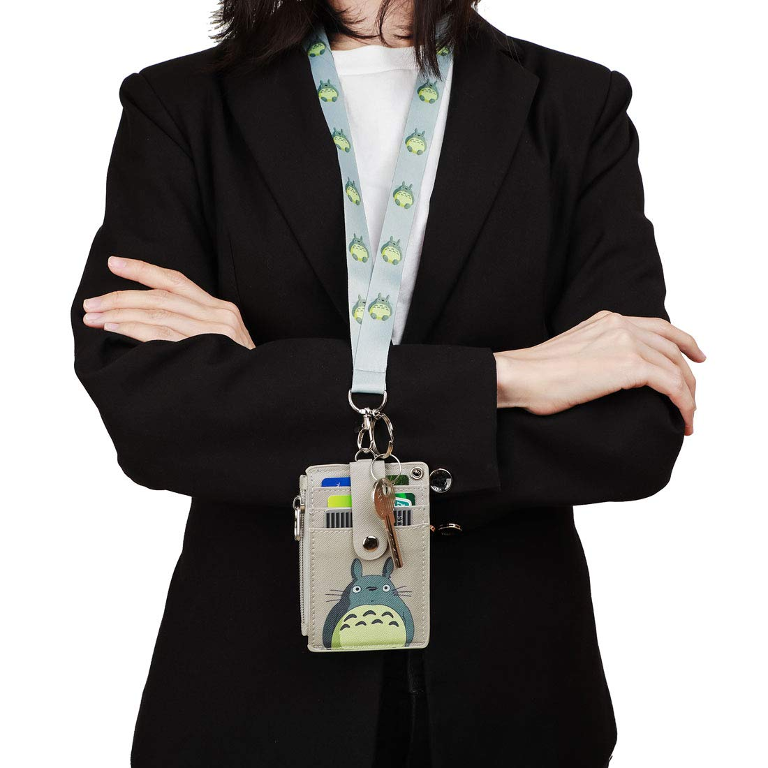 Amazon.com : Badge Holder with Zipper, Cute ID Badge Holder ...