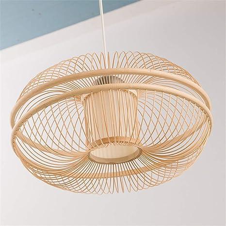 Bamboo Pendant Lights Lantern Work Hand Knitted Craft Suspension