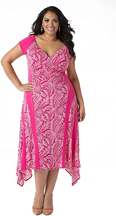 Igigi Womens Plus Size Michelle Dress In Fuchsia 12 At Amazon