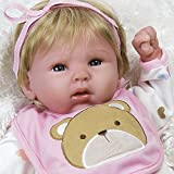 Paradise Galleries Lifelike Baby Doll That Looks Real Happy Teddy - 19 inch Girl in GentleTouch Vinyl