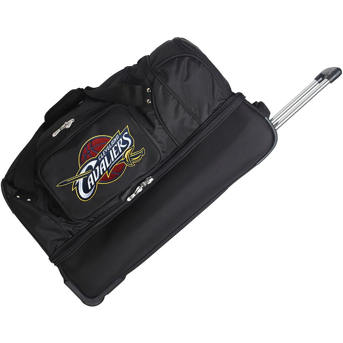 DENCO CLEVELAND CAVALIERS 27'' 2-WHEELED DROP BOTTOM DUFFEL