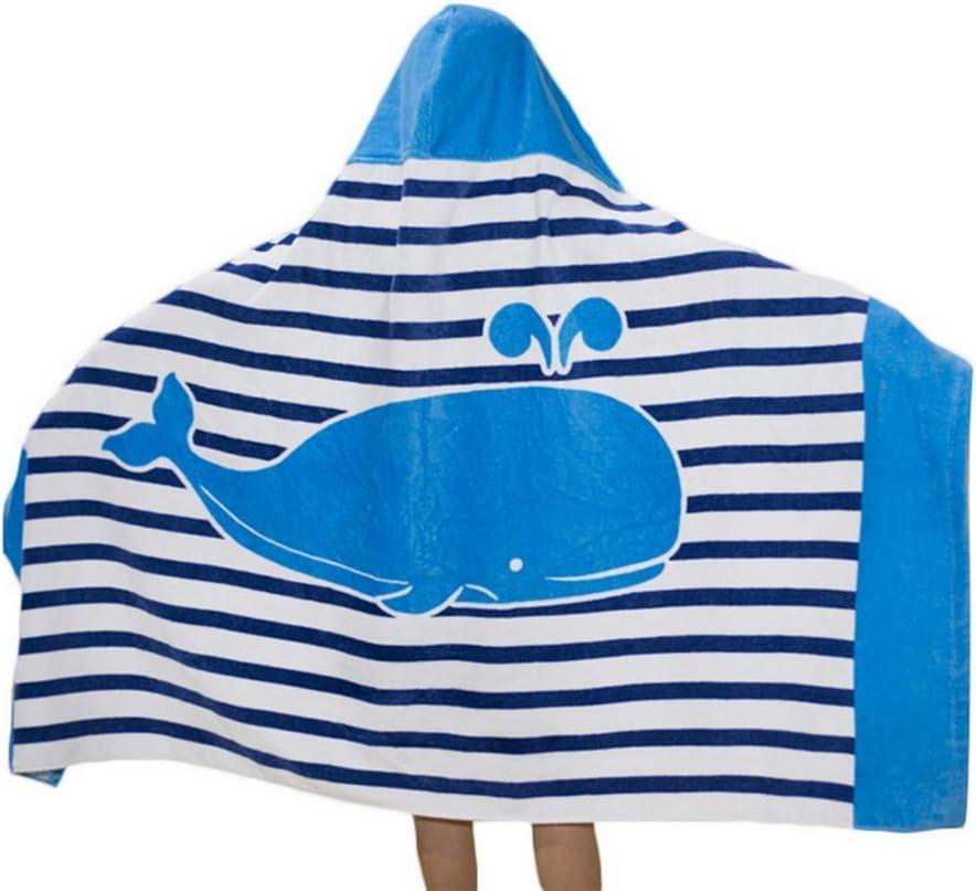 Repuhand Kids 100/% Cotton Beach Bath Towel with Hood Children Poncho Bathrobe Hooded Towel for Boys Girls Bathing Swimming Beach Holiday