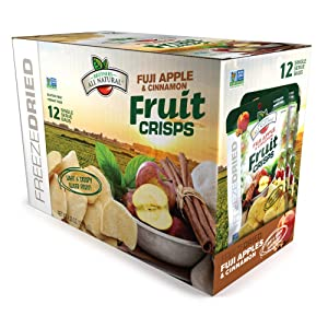 Brothers-ALL-Natural Fruit Crisps, Fuji Apple and Cinnamon, 0.35 Ounce (Pack of 12)
