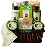 Green Tea Zen Calming Tea, Bath and Body Gift Basket Spa Set