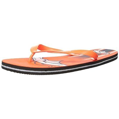 Amazon.com : Denver Broncos Unisex Gradient Big Logo Flip Flop Extra Large : Clothing