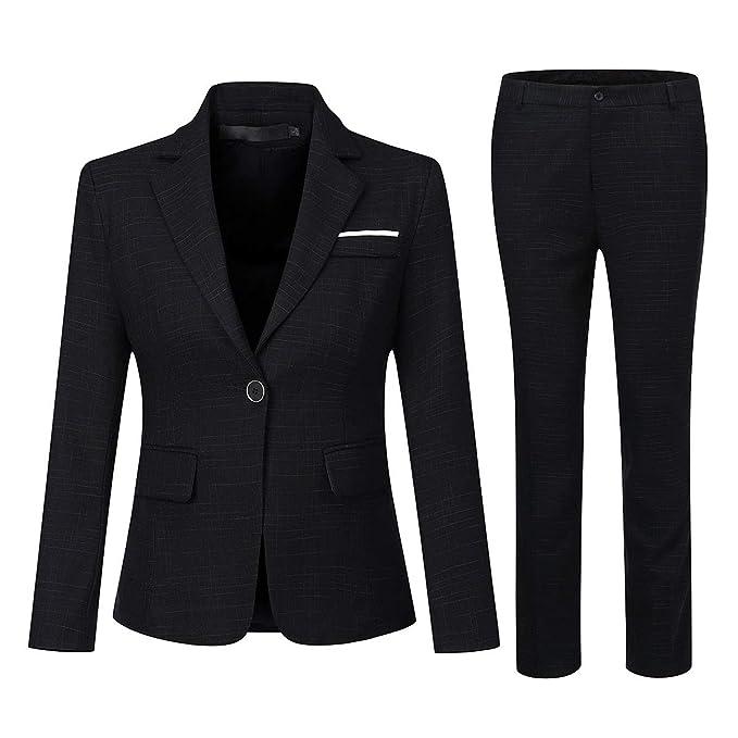 Amazon.com: Juego de ropa de trabajo para mujer de 2 piezas ...
