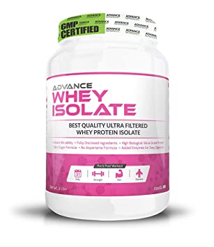 Advance Nutratech Whey Protein Isolate for lean muscle Powder - 2 lb (Vanilla) flavoured Whey Proteins at amazon