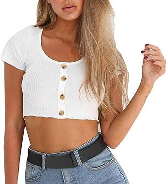 Camisetas Algodon Mujer Ronamick Fiesta Blusa Blanca Mujer Fiesta Crop Tops Fiesta Camisa Flores Mujer (Blanco,S): Amazon.es: Iluminación