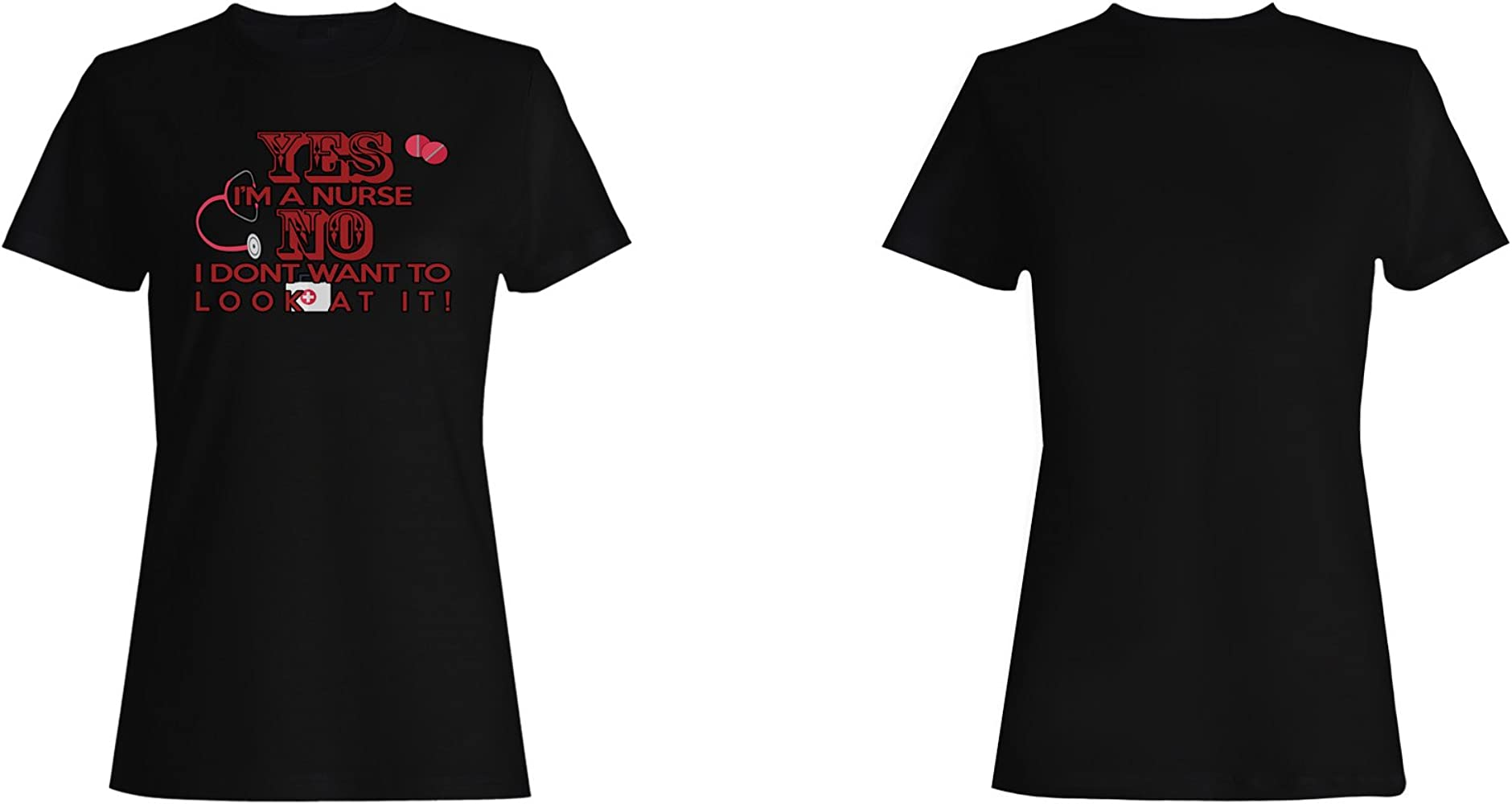 INNOGLEN Si, Soy Enfermera No Ayuda Gracioso Camiseta de Las Mujeres r725f: Amazon.es: Ropa y accesorios