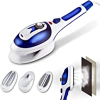XBDUS Handheld Steamer for Clothes, Hanging/Flat Garment Steamer and Portable Steam Iron with 2 Removable Brushes, Powerful Wrinkle Remover Dry and Fabric Steamer for Home, Travel