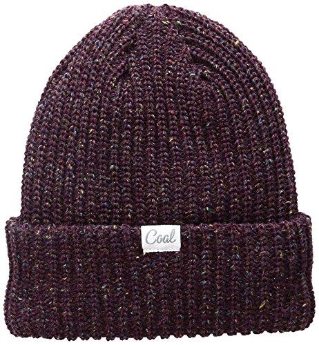 Coal Women's The Edith Rib Knit Cuffed Beanie Hat, Plum, One Size