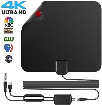 Newest - Antena TDT HD para televisión interior, potente 50 – 30 m, Amplificado digital, antena HDTV con alta rendimiento, cable coaxial desmontable, ...