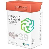 Organic Shikakai Powder by MERLION NATURALS | Acacia Concinna | Organic Certified | Excellent Hair Conditioner (227 gm)