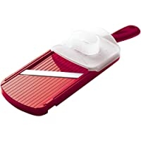 Kyocera Advanced Ceramic Double-edged Mandolin Slicer With Guard, Red