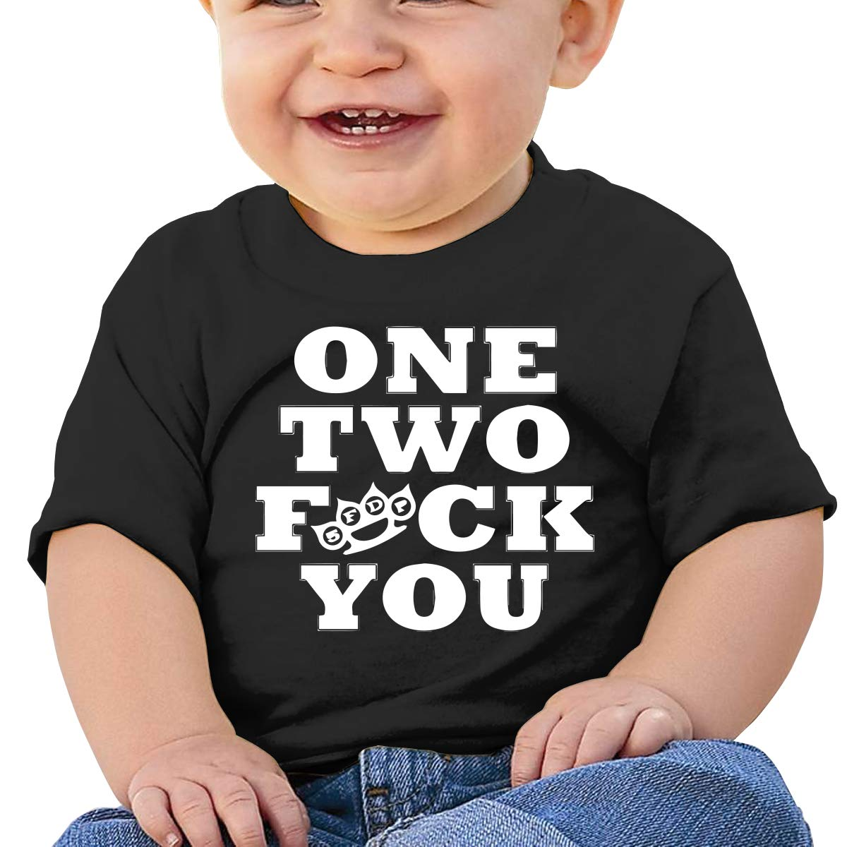 One Two Fuck You Toddler Short-Sleeve Tee for Boy Girl Infant Kids T-Shirt On Newborn 6-18 Months
