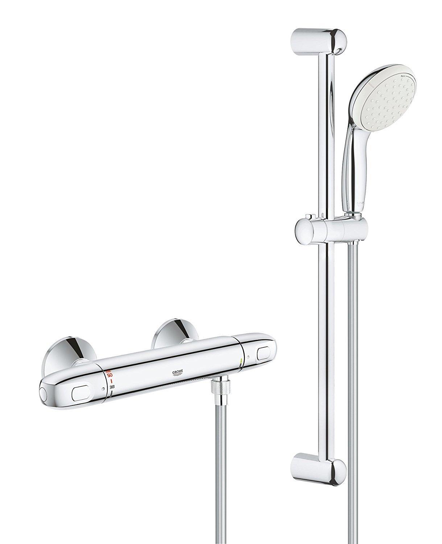 Grohe Grohtherm 1000 New.Grohe 34557001 Grohtherm 1000 New Thermostat Shower Set
