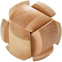 Childplaymate Kong Ming Luban Lock Kids Adult Wooden Puzzle Brain Tease Toy (Soccer)
