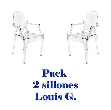 Oui Home - Pack 2 sillas Louis Ghost Transparentes