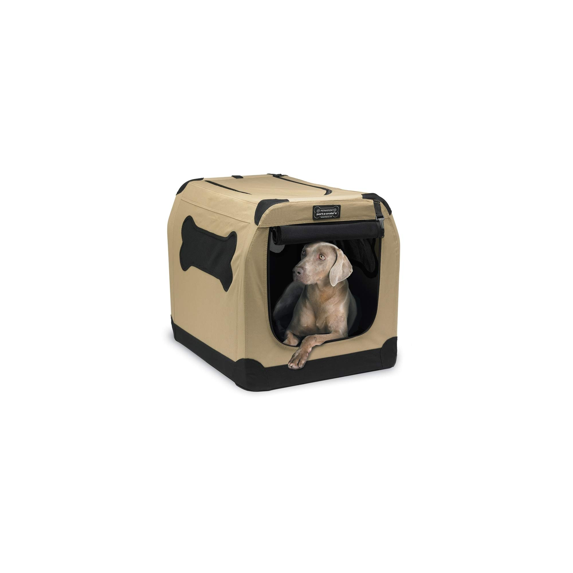 Petnation Port-A-Crate Indoor and Outdoor Home for Pets, 36-Inch by PetNation