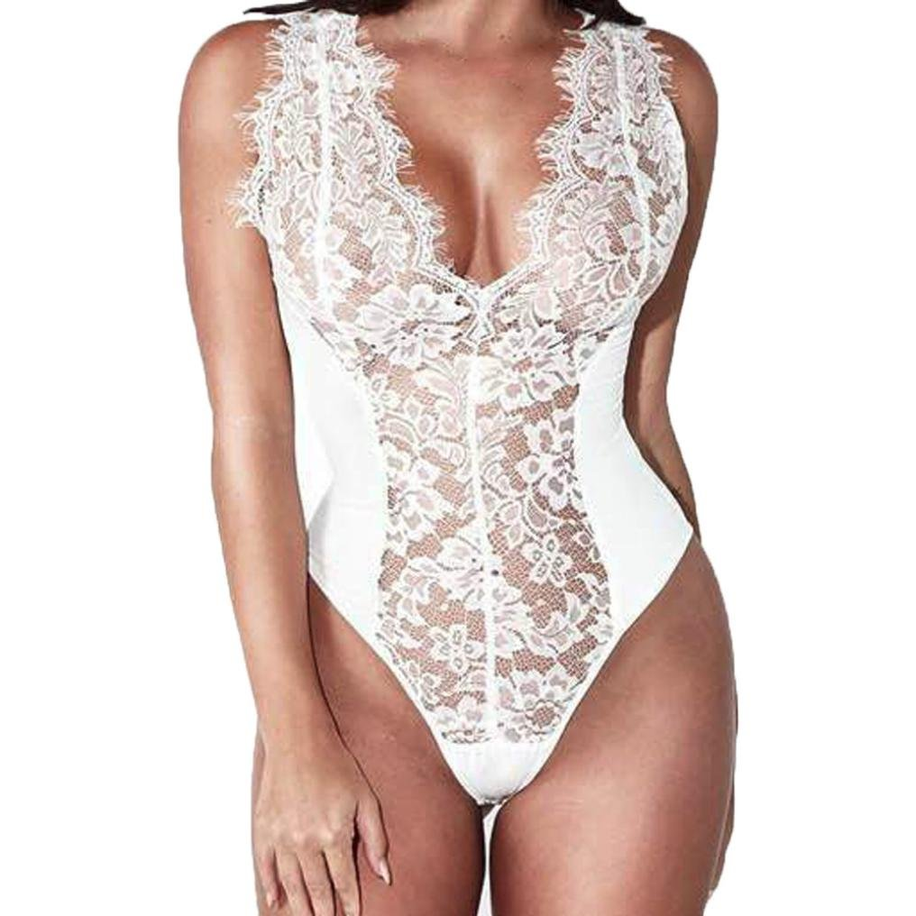 Lenceria encaje, Morwind bodysuit mujer bodysuit lenceria mujer sostén tanga bragas ropa interior mujer sexy conjuntos conjunto picardias pijama: Amazon.es: ...
