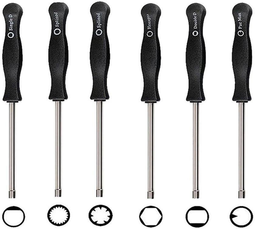 Vergaser-Einstellwerkzeug-Schraubendreher Set-of-8 Vergaser-Einstellwerkzeug-Kit Vergaser-Reinigungsset Passend f/ür Ger/äte vieler Marken