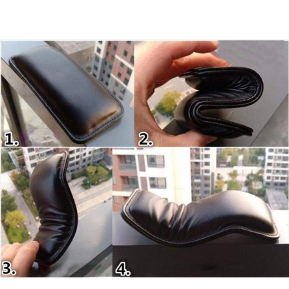 Driver Side Console Knee Support Pad,Car Auto Center Console Foot Care Knee Leggings Cover Car Console Pad Black