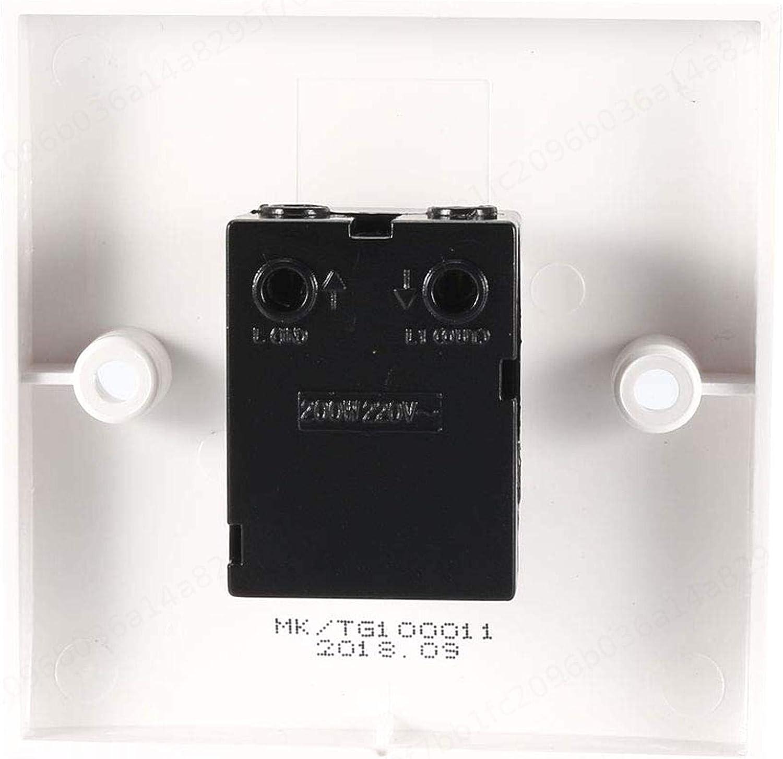LNIEGE Ventilador de Techo Ajustable Control de Velocidad de rotaci/ón del bot/ón de Interruptor del Panel de Pared 200W 220V AC