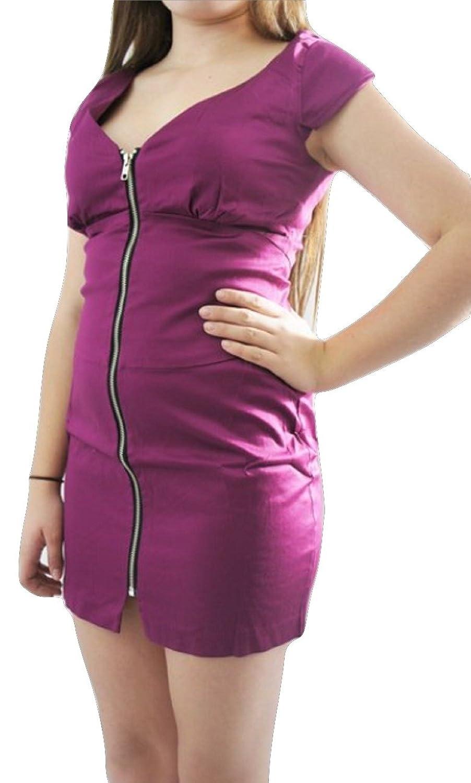 TopshopDamen Kleid, Einfarbig Rosa Deep Pink