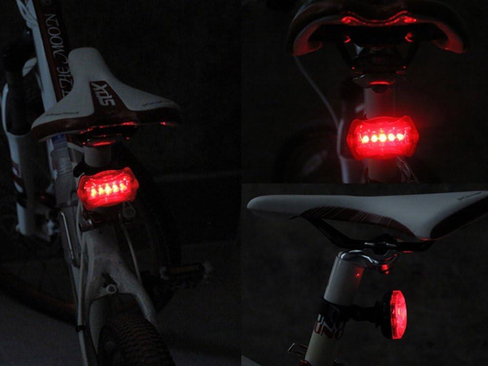 2LED bright cycling bicycle bike safety rear tail flashing back light lamp VJ