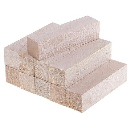 Fenteer 5/10 Pack Unfinished Balsa Wood Block Wood Rods