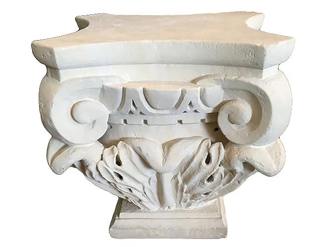 Tavolini Da Salotto In Pietra Leccese.Base Capitello Per Tavolino In Pietra Leccese Amazon It